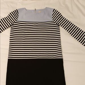 Loft Outlet Black/White/Chambray Dress - Size SM